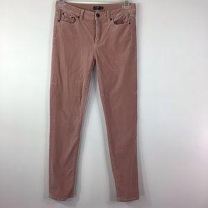 J. Crew Dusty Rose Velvet Jeans